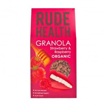 RUDE HEALTH - Organic Granola strawberry Raspberry - 450G