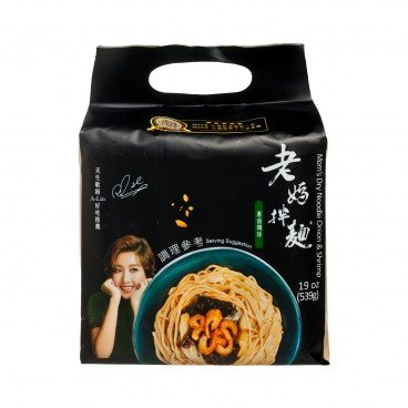 LAO MA NOODLE Dry Noodle onion Oil Shrimp 134GX4