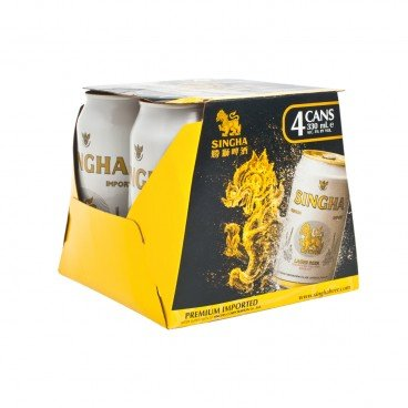 SINGHA - Premium Lager can - 330MLX4