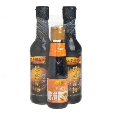 LEE KUM KEE - Double Deluxe Soy Sauce sweet Soy Sauce For Dim Sum - 500MLX2+207ML