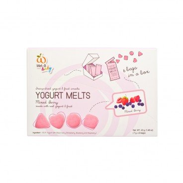 WEL-B Baby 100 Natural Yogurt Melts mixed Berry 7GX6
