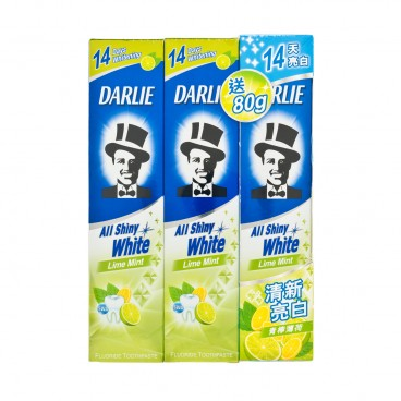 DARLIE - All Shiny White Toothpaste lime Mint - 140GX2+80G