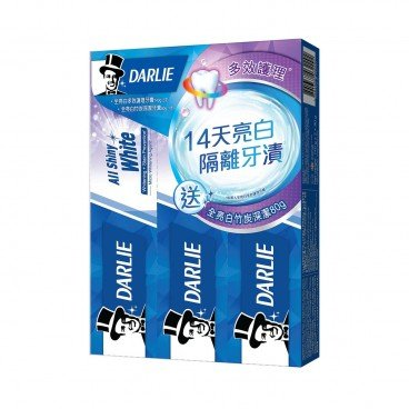 DARLIE All Shiny White Multi care Toothpaste Package 140GX2+80G