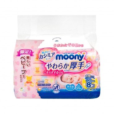 MOONY Baby Wet Wipes thick refill 60'SX8