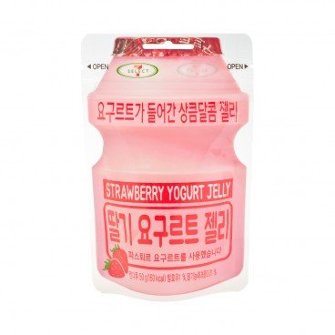 LOTTE Yogurt Jelly Candy Strawberry 50G