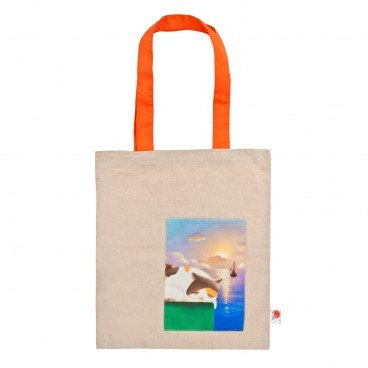CHARITY SALE-TAI O STRAY CAT HOME Cat Tote Bag  Orange Handheld  PC