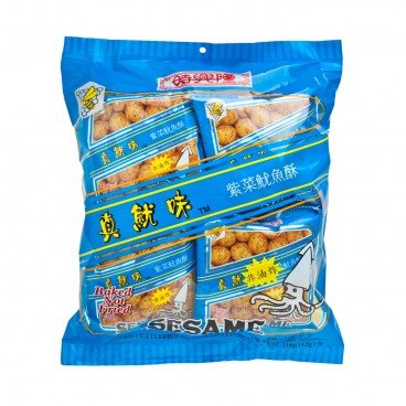 SZE HING LOONG Sesame Cuttlefish Snack Puffs bonus Pack 14.5GX8