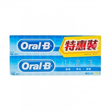 ORAL B 123 Toothpaste Twin Pack 200GX2