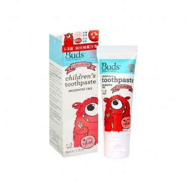 BUDS ORGANICS Xylitol Toothpaste strawberry 50ML