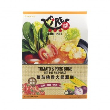 FIRE POT - Hot Pot Soup Base tomato Pork Bone - 400G