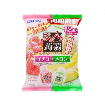 ORIHIRO Strawberry And Melon Jelly 240G