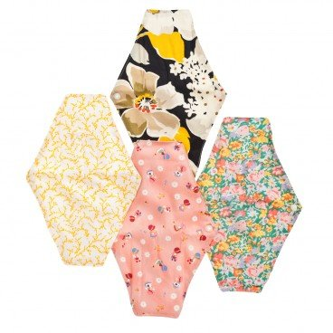 HEDGIELITTLE HAPPERIOD Eco friendly Organic Cloth Day Pad random One 23 5 cm PC