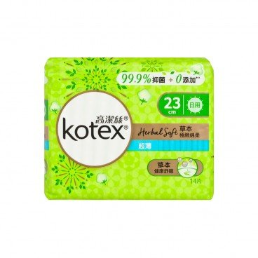 KOTEX Herbal Soft Ut Day 23 cm 14'S