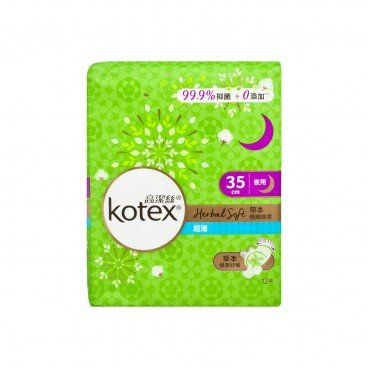 KOTEX Herbal Soft Ut On 35 cm 12'S