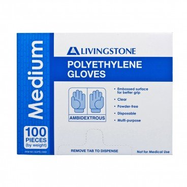 GLOVES POLYETHYLENE M
