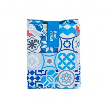 BOC'N'ROLL BY ROLL'EAT Eco friendly Sandwich Wrap patchwork Blue PC