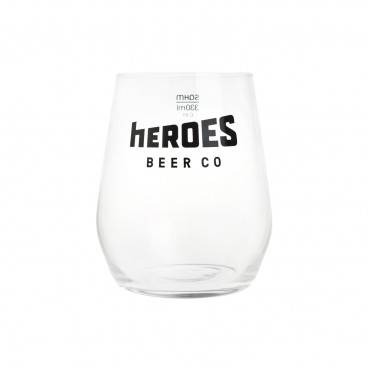 HEROES 330 ml Beer Glass PC