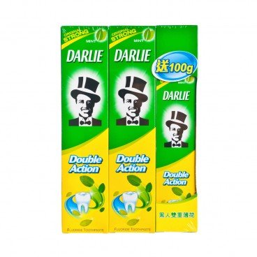 DARLIE Double Action Toothpaste Package 250GX2+100G