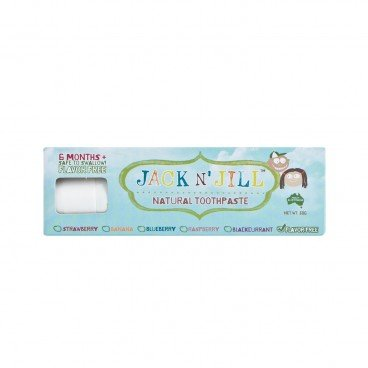 JACK N' JILL Natural Toothpaste flavor Free 50G
