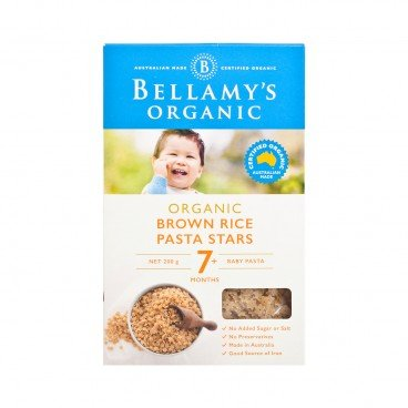 BELLAMY'S ORGANIC - Organic Brown Rice Pasta Stars - 200G