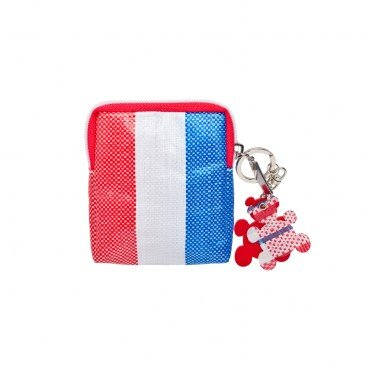 RED WHITE BLUE 330 Coin Pouch With Keychain PC