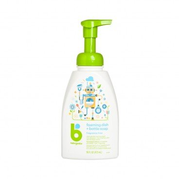 BABYGANICS - Dish Bottle Soap fragrance Free - 473ML