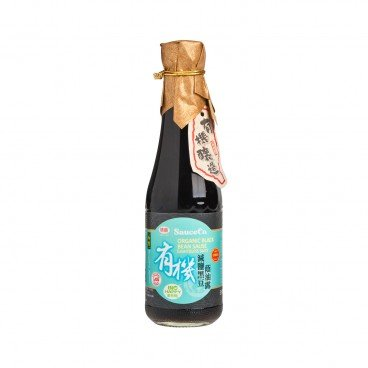 WEI JUNG Organic Black Soy Sauce less Salt 320ML