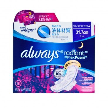 WHISPER - Always Radiant Flex Foam 31 7 cm - 9'S