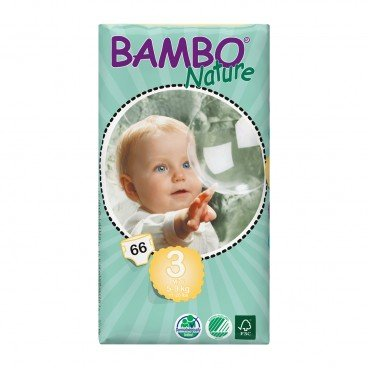 BAMBO NATURE Eco Friendly Baby Diapers small Size 3 66'S