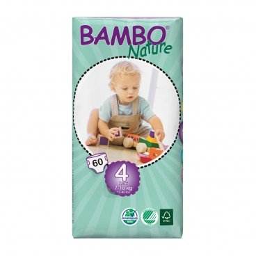 BAMBO NATURE Eco Friendly Baby Diapers medium Size 4 60'S
