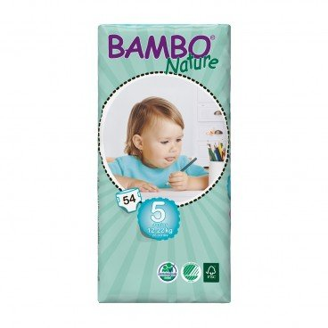 BAMBO NATURE - Eco Friendly Baby Diapers large Size 5 - 54'S