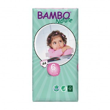 BAMBO NATURE Eco Friendly Baby Diapers extra Large Size 6 44'S
