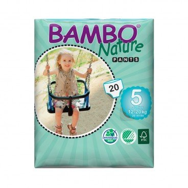 BAMBO NATURE - Eco Friendly Baby Training Pants large Size 5 - 20'S