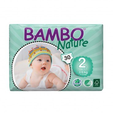 BAMBO NATURE Eco Friendly Baby Diapers extra Small Size 2 30'S