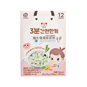 MIZNCO Korean Beef Bone Soup Rice Porridge 10GX9