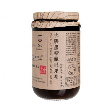NICOLE'S KITCHEN Peach Gum Black Sugar Longan Tea 390G
