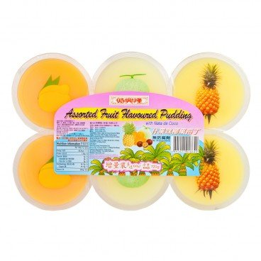 SZE HING LOONG Assorted Fruit Pudding With Nata De Coco 120GX6