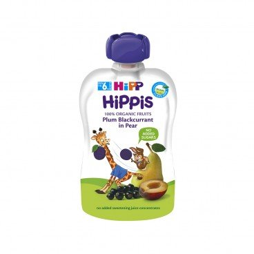 HIPP Organic Plum blackcurrant In Pear 100G