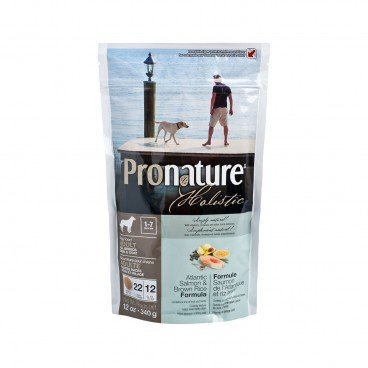 PRONATURE HOLISTIC Atlantic Salmon Brown Rich Formula adult Dog 12OZ
