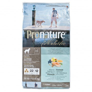 PRONATURE HOLISTIC Atlantic Salmon Brown Rich Formula adult Dog 30LB