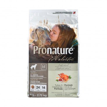 PRONATURE HOLISTIC Turkey Cranberries Formula adult Dog 6LB