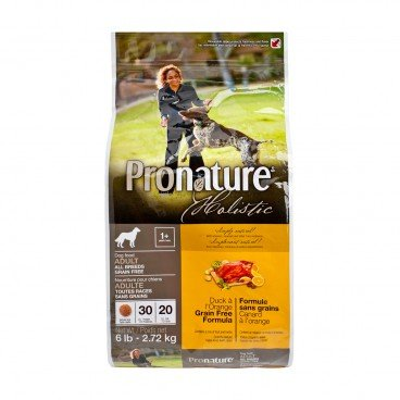 PRONATURE HOLISTIC Duck Orange Formula adult Dog 6LB