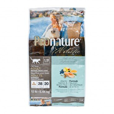 PRONATURE HOLISTIC Atlantic Salmon Brown Rice Formula adult Cat 12LB