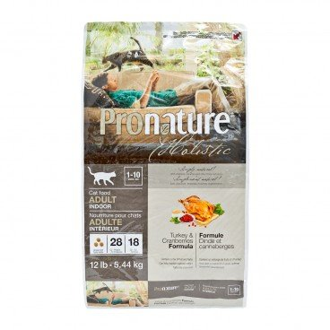 PRONATURE HOLISTIC Turkey Cranberries Formula adult Cat 12LB