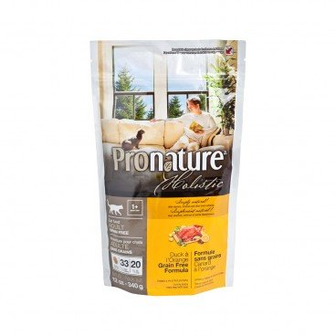 PRONATURE HOLISTIC Duck Orange Formula adult Cat 12OZ