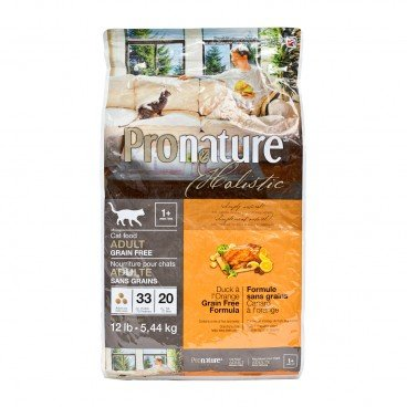PRONATURE HOLISTIC Duck Orange Formula adult Cat 12LB