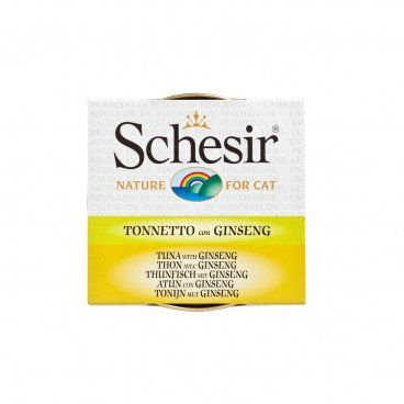 SCHESIR Tuna With Ginseng Soup Tin cat 70G
