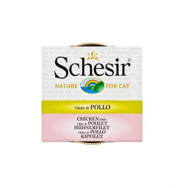 SCHESIR Chicken Fillet Soup Tin cat 70G