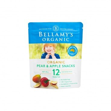BELLAMY'S ORGANIC - Organic Pear Apple Snacks - 20G