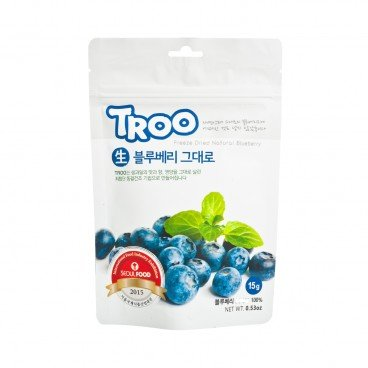 TROO - Korean Natural Freeze dried Fruit Natural Blueberry - 15G